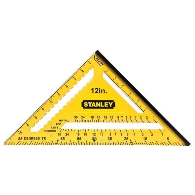 Stanley-Dual Colour Quick Square 300mm(12in) ABS Construction Markings Resistant