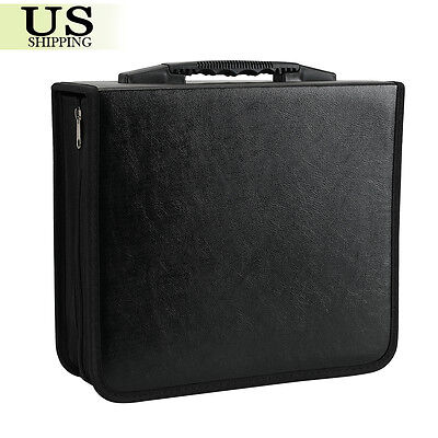 400 Disc CD DVD Organizer Holder Storage Case Bag Wallet Album Media Video Black