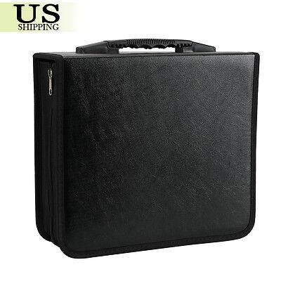 400 Disc CD DVD Organizer Holder Storage Case Bag Wallet Album Media Video Black ()
