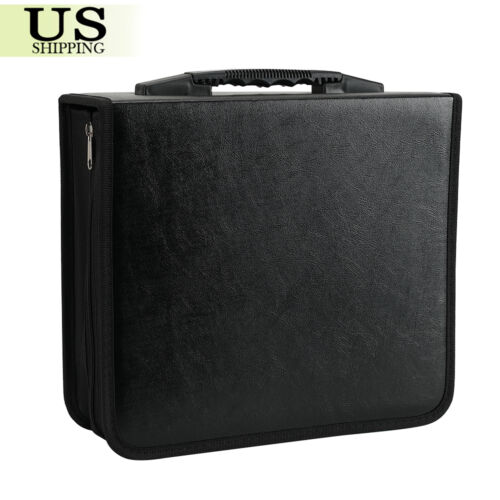 400 Disc CD DVD Organizer Holder Storage Case Bag Wallet Alb