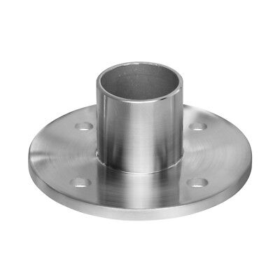 "Stainless Steel Heavy Duty Rail Floor Wall Flange for 2"" OD Round Tube Pipe"