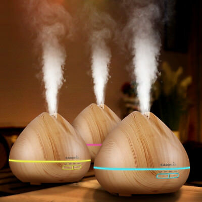 Easehold Ultrasonic Essential Oil Diffuser Aroma Humidifier 7 Colors Light 400ML