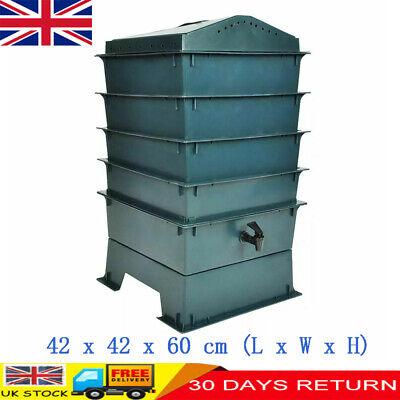 4-Tray Worm Factory Standard Waste Organic Compost Bin System Eco-friendly