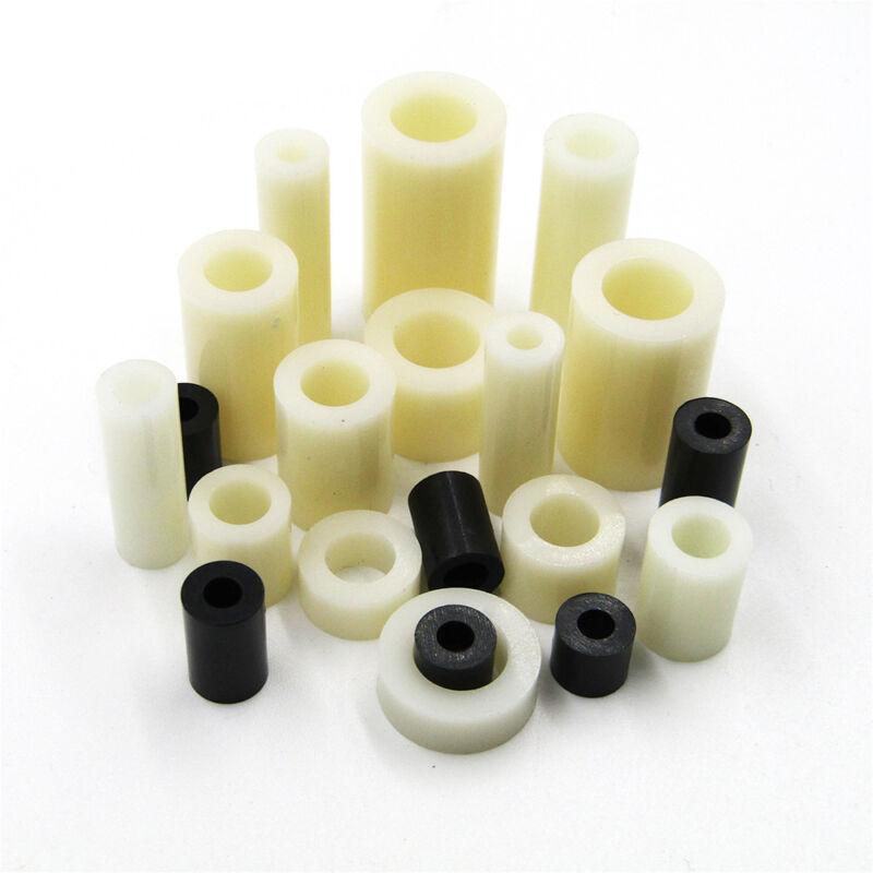 Plastic Nylon Round Non-Thread Column Standoff Spacer ABS Washer for PCB Board