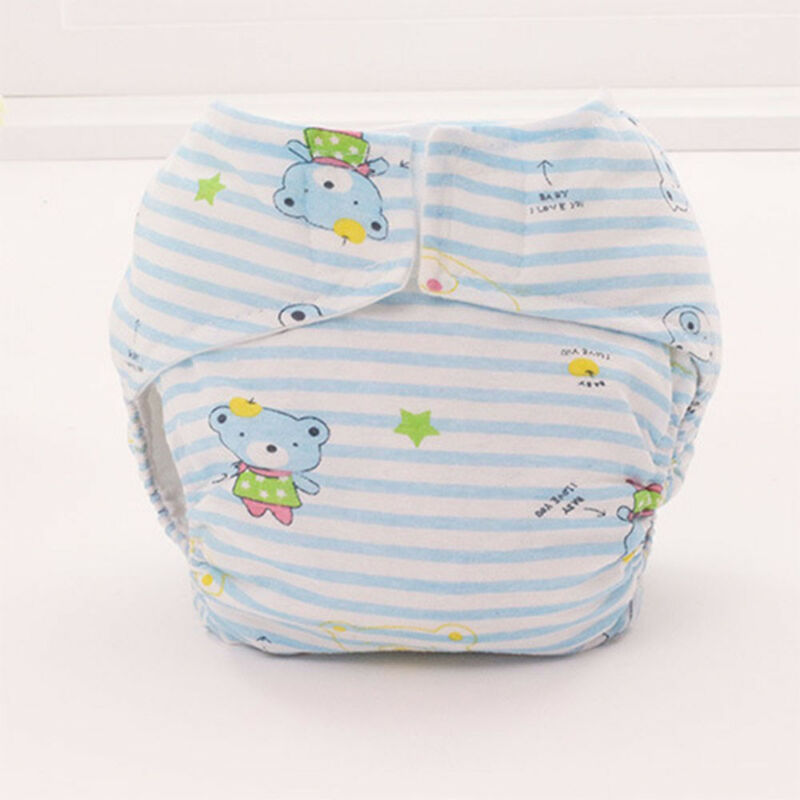 Baby Infant Cartoon Soft Cotton Diapers Waterproof Breathable Nappy Leak Proof