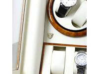 Time Tutelary Watch Winder Box (Burlwood) No' Q88YW - 8 Capacity Watches - Free Shipping & Warranty