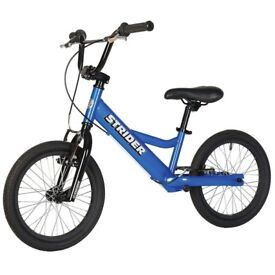 Strider 16 Sport Blue Balance Bike Ages 6-10 Excellent condition