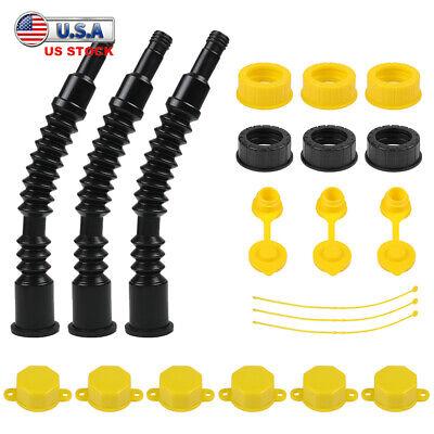 3 Packs Super Long Gas Can Replacement Spout Kit 10 Flexible Nozzle Spill-proof