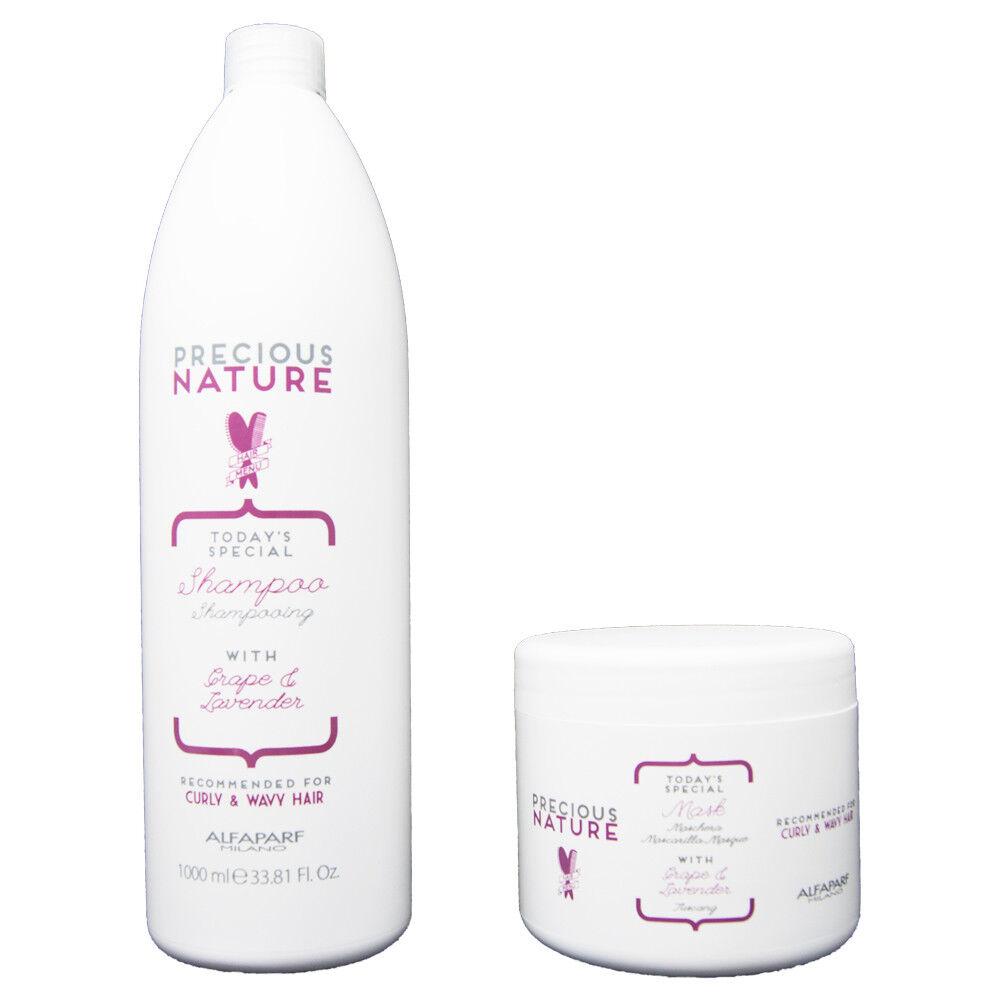 Alfaparf Precious Nature Curly & Wavy Shampoo 1000 ml + Maschera 500 ml / Ricci