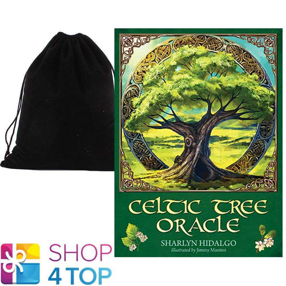 CELTIC TREE ORACLE DECK CARDS ESOTERIC TELLING BLUE ANGEL WITH VELVET BAG NEW