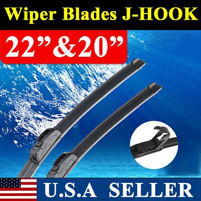 22  20 JHOOK Windshield Wiper Blades OEM Quality Beam ALL SEASON PREMIUM