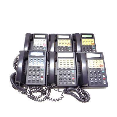 Lot Of 6 Esi Dp1 Esi-dex Digital Phones 16-button Charcoal Display With Riser