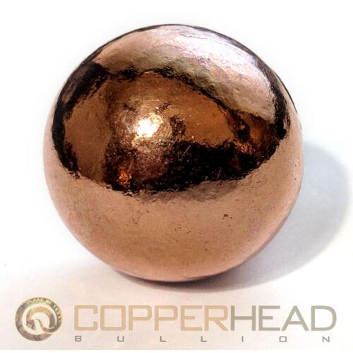"""2"""" Inch (19 oz) 50mm Pure Copper Bullion Sphere 1 lb 3 oz Native Therapy Ball"""
