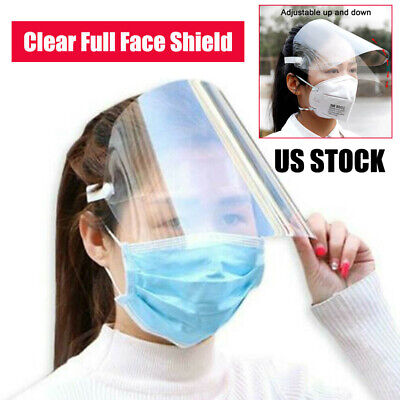 SAFETY FULL FACE SHIELD CLEAR FLIP-UP VISOR SHOP INDUSTRY DENTAL OIL DUST PROOF
