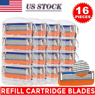 16PCS for Gillette Fusion 5-Layer Men's Razor Blade Refills Replacement Gift