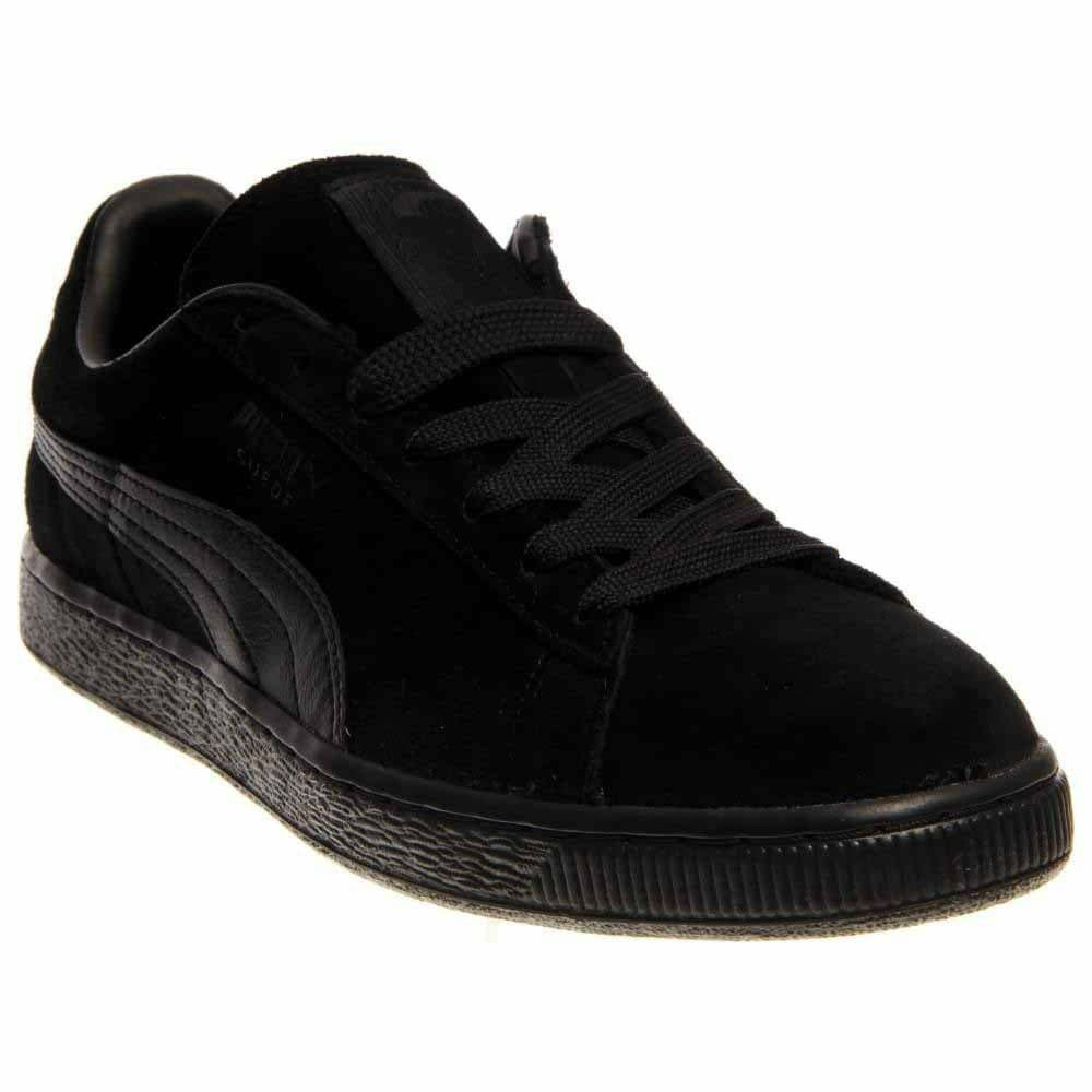 Puma Suede Classics Leather Formstrip  Athletic   Shoes Black - Mens - Size 12 D