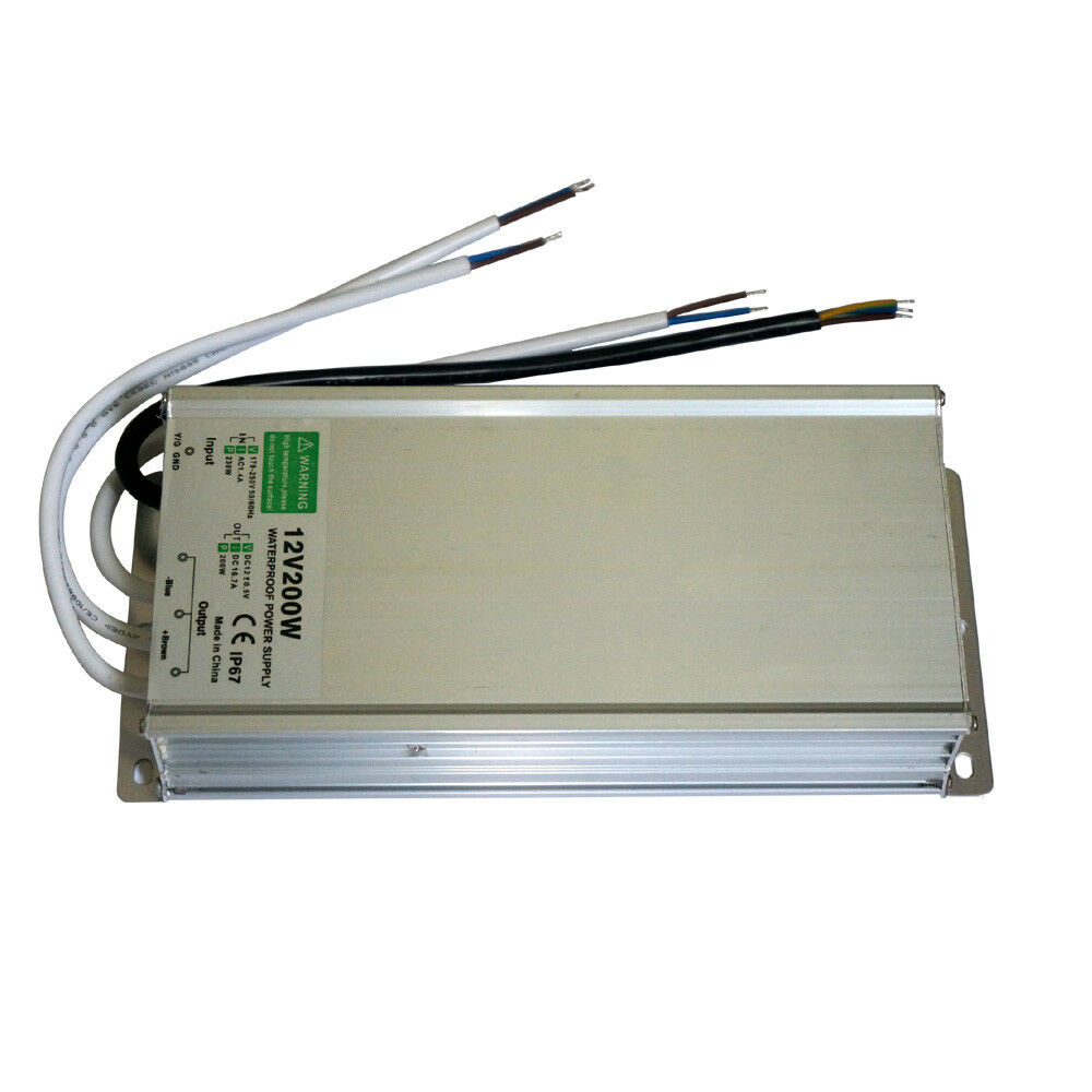 240V DC12V Waterdichte IP67 LED Driver Voeding Transformator 200W LED Strip