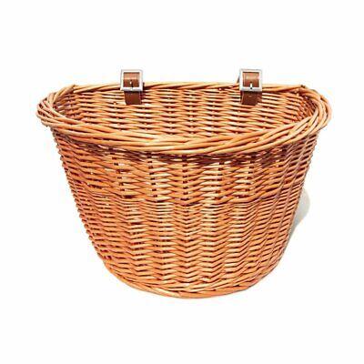 Tourbon Bicycle Basket Front Straw Basket Bag Vintage Wicker Storage Basket Gift