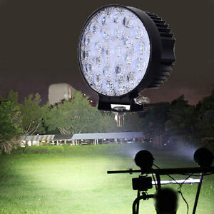 72W LED Flood Work Light Spotlight Car Jeep SUV Offroad Truck Boat Bar Lamp 12V