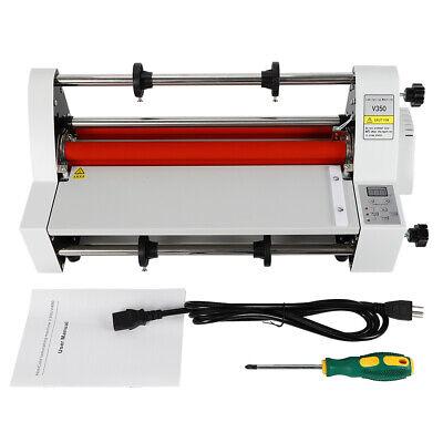Laminator Hot Cold Roll Laminator Machine V350 13 350mm Fits Bopppte Dbw 110v