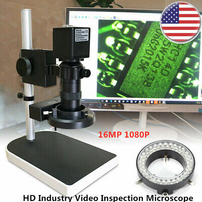 16mp 1080p Hdmi Digital Industry Video Inspection Microscope Wcamera Stand Set
