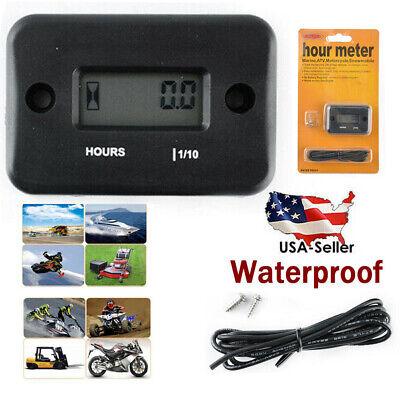 Waterproof Digital Hour Meter Test For Lawn Mower Generator Motorcycle New