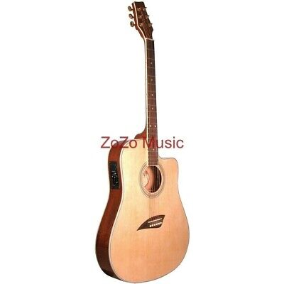 New Kona K2 Thin Body 6-String Acoustic Electric Guitar, Natural + Ships Free