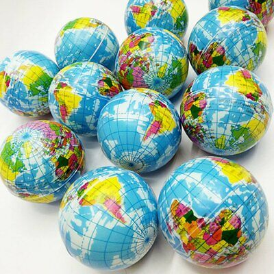 Mini Stress Relief World Map Foam Ball Atlas Globe Palm Ball Planet Earth Ball (Mini Globes)