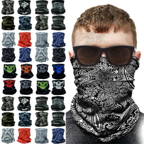 3-12Pcs Tube Bandana Scarf Neck Gaiter Head Face Mask Multi-use Outdoor Cap Lot