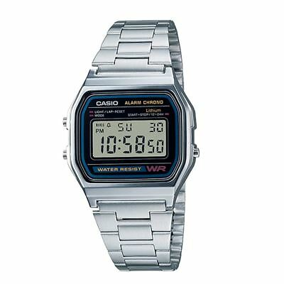 Casio Men's Stainless Steel with Date Calender Bracelet Watch A158WA-1DF