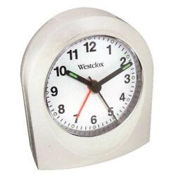 Westclox 47312B Keywodo Quartz Travel Alarm Clock, White