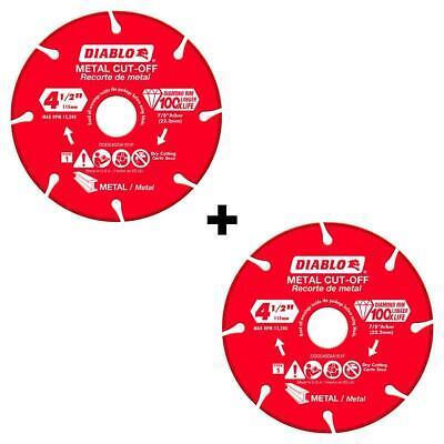 x 5//8 in 25-Pack x 1//4 in Aluminum Diablo Metal Grinding Disc 4 in