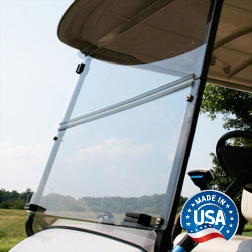 Yamaha G29 / Drive Clear Fold Down Bolt-Style Golf Cart Windshield - US Made