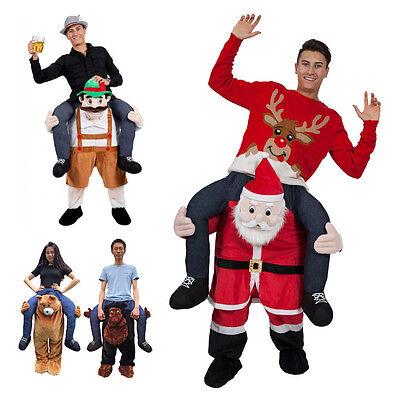 Tragen Sie Weihnachtsmann Teddybär Fahrt auf mir Weihnachten Maskottchen - Mann Teddy Bär Kostüm