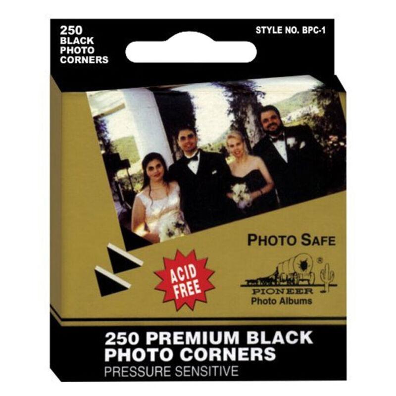 Pioneer Self Adhesive Photo Corners 250 Package Black