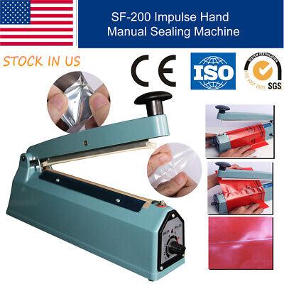 8 200mm Manual Heat Impulse Sealer Plastic Bag Film Sealing Machine