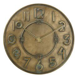Bulova Clocks C3333 Frank Lloyd Wright Exhibition Antique Bronze 12 Wall Clock