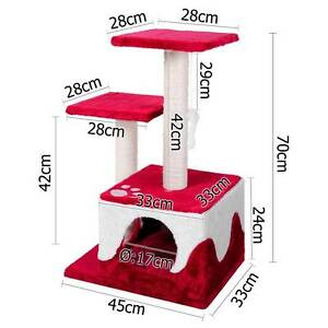 Cat Scratching Poles Post Furniture Tree House Red Darwin CBD Darwin City Preview