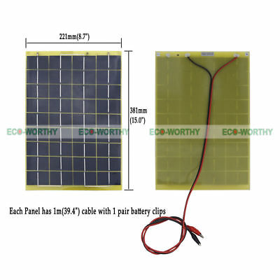 ECO Transportable 10W Solar panel 10 Watt 12 V Garden Fountain laptop Battery Charger