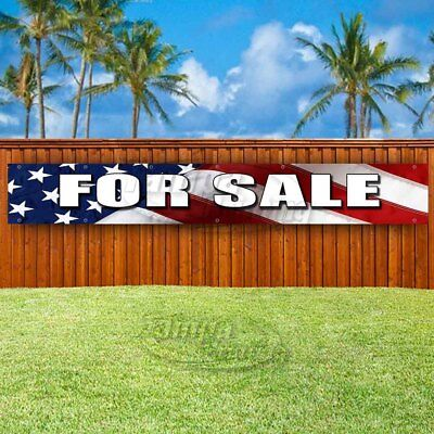 For Sale American Flag Background Advertising Vinyl Banner Flag Sign Large Sizes