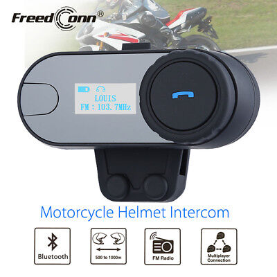 TCOM-SC LCD Screen Bluetooth Motorcycle Motorbike Helmet Intercom Headset