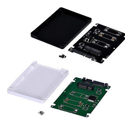 Plastic Mini pcie mSATA SSD To 2.5Inch SATA3 Adapter Card With Case
