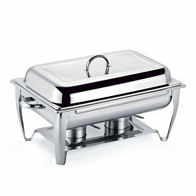 Stainless Steel Rectangular Chafing Dish Buffet Warmer Set 9.5 Quart 9l Chafer