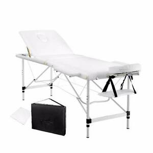 Massage Table Portable Folding Height Adjustable 60cm Wide White Kings Beach Caloundra Area Preview