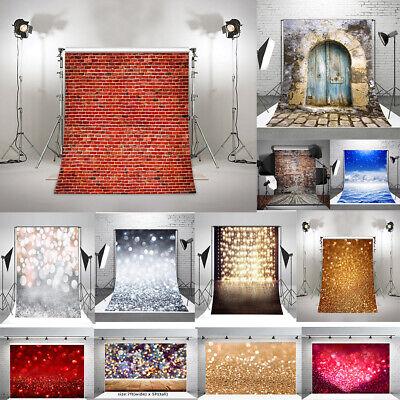Brick Wall Background (US Photography Backdrops Brick Wall Wood Floor Photo Background  Vinyl Props)