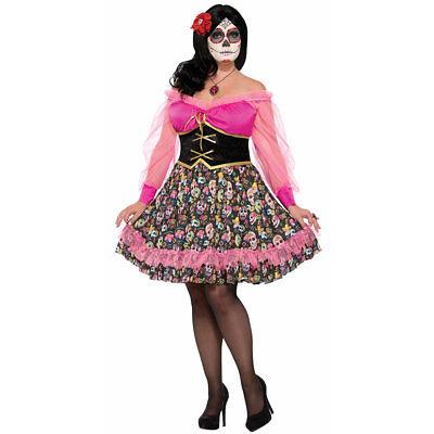 Womens Day of the Dead Plus Size Señorita Costume sz (Forum Womens Kostüme)