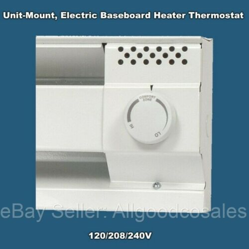 Baseboard Heater Thermostat White CADET Built-In End Mounted on Unit Single Pole