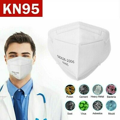 KN95 Face Mask 40 Piece Protective Respirator Covers Mouth & Nose K N95 5-Layer