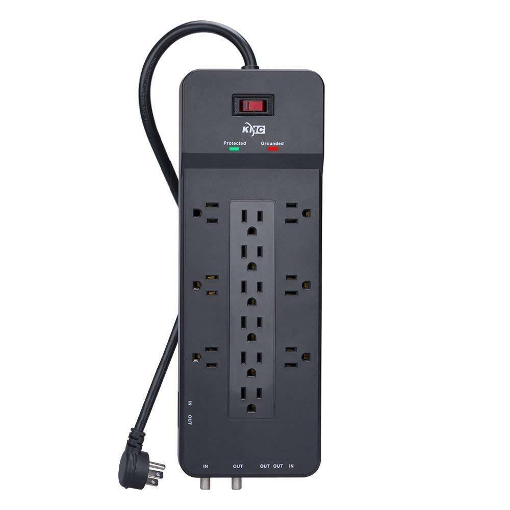 Belkin 8 ft. 12 Outlet Home / Office Surge Protector with Te