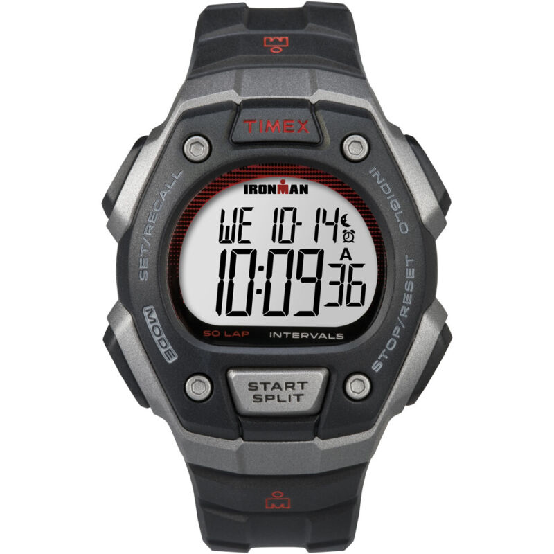 Timex Ironman Classic 50-Lap Full-Size Watch - Silver/Red  (TW5K85900)